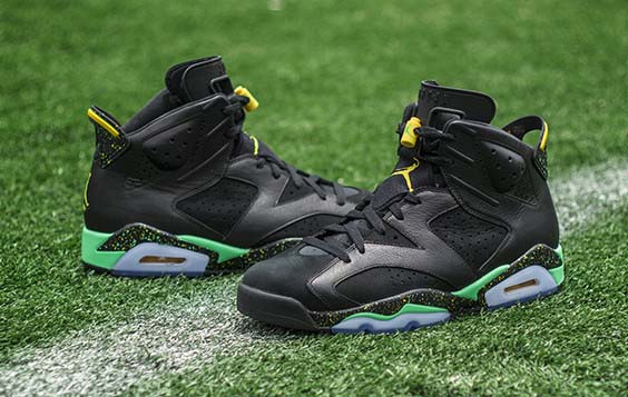 Air Jordan 6 World Cup Brazil Shoes Black/gamma blue yellow